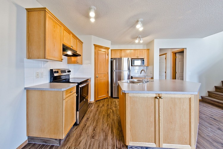 Spacious kitchen in Mckenzie Towne Calgary