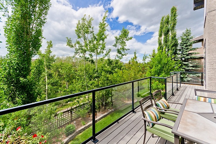 Private views from Calgary home in Wentworth