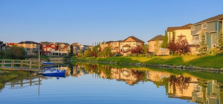 Water front home in Bayside Airdrie