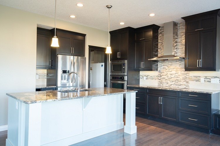 Dark Cabinets in Airdrie home for rent